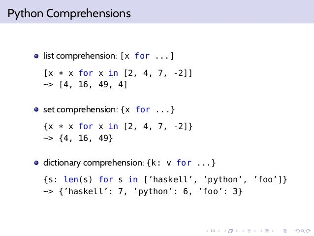 dictionary comprehsension python