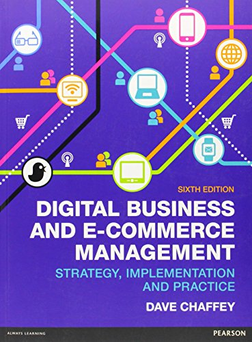digital business and ecommerce management dave chaffey 6th edition pdf