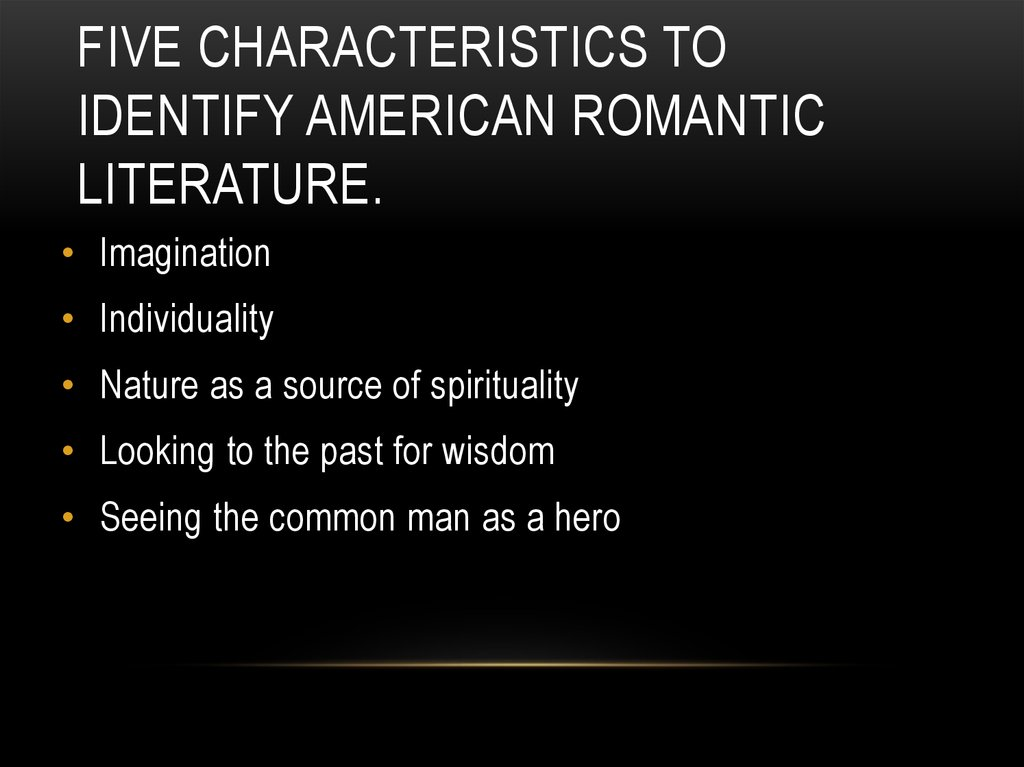 characteristics of romantic poetry pdf