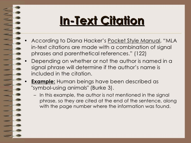 a pocket style manual mla citation