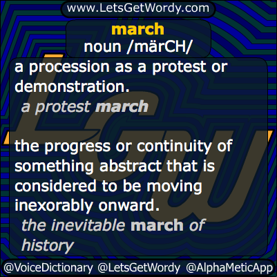 dictionary meaning of march