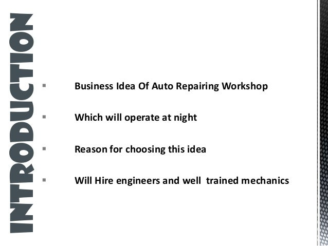 automobile workshop business plan pdf