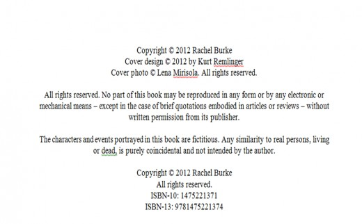 copyright sample for nz book