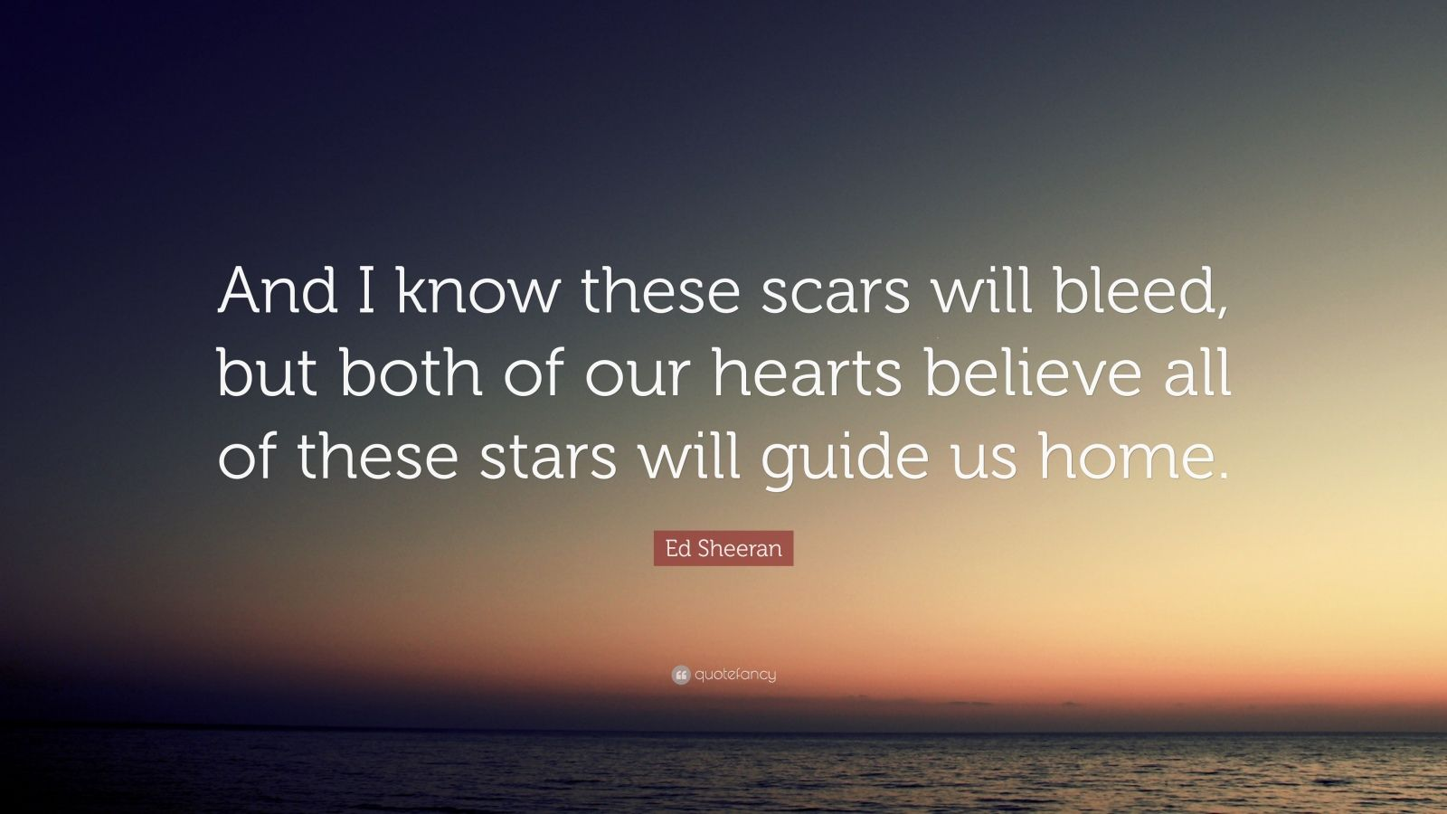all these stars will guide us home