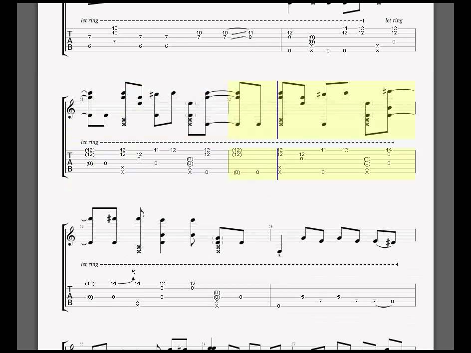 come as you are bass tab pdf