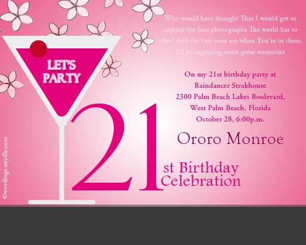 birthday invitation message sample