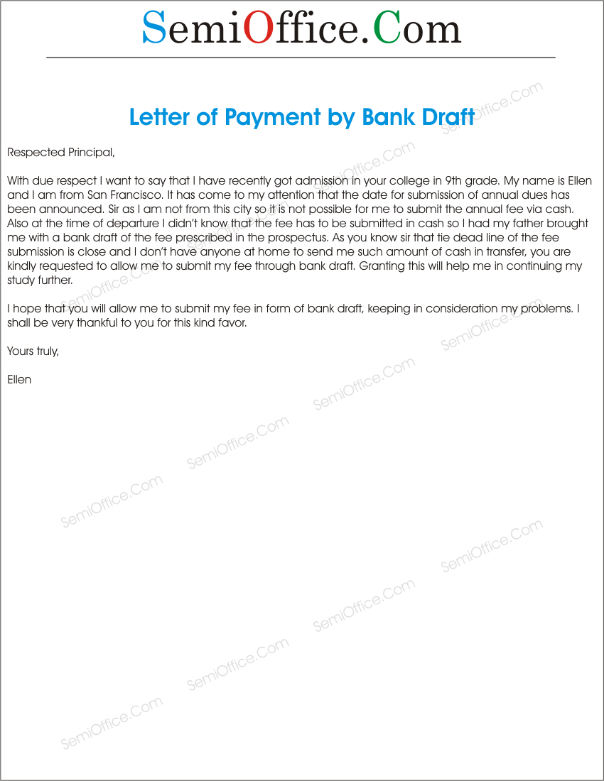 draft application letter
