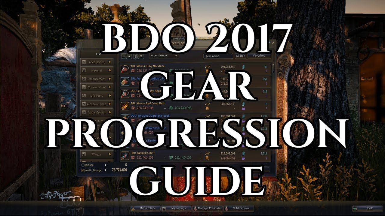 bdo black knight gear guide