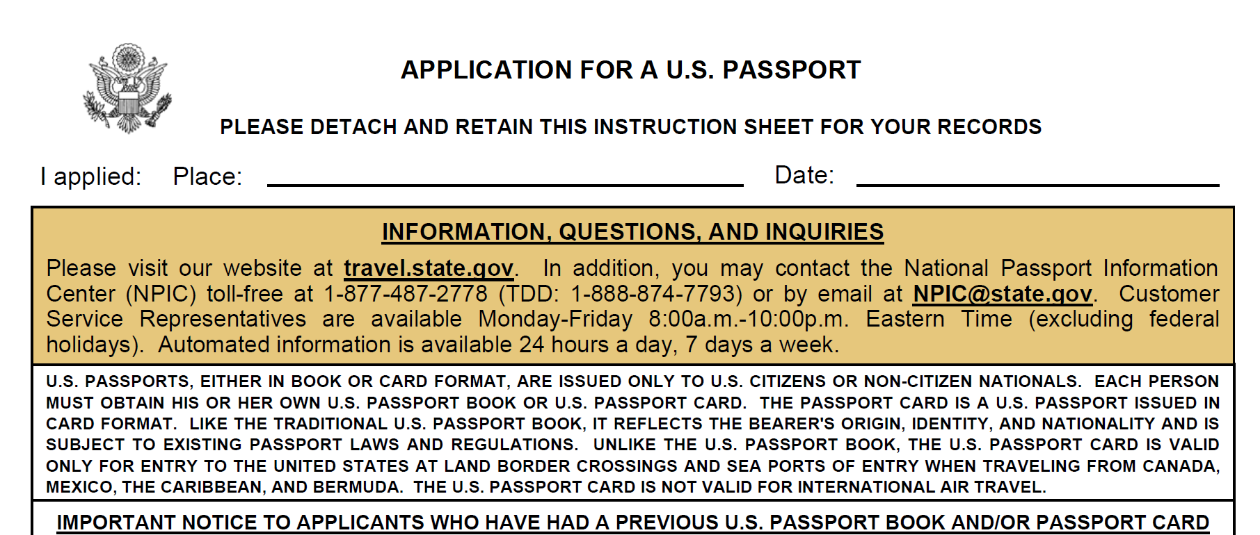 application to enter us