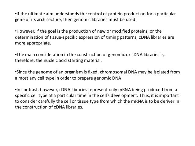 application of genomic dna library