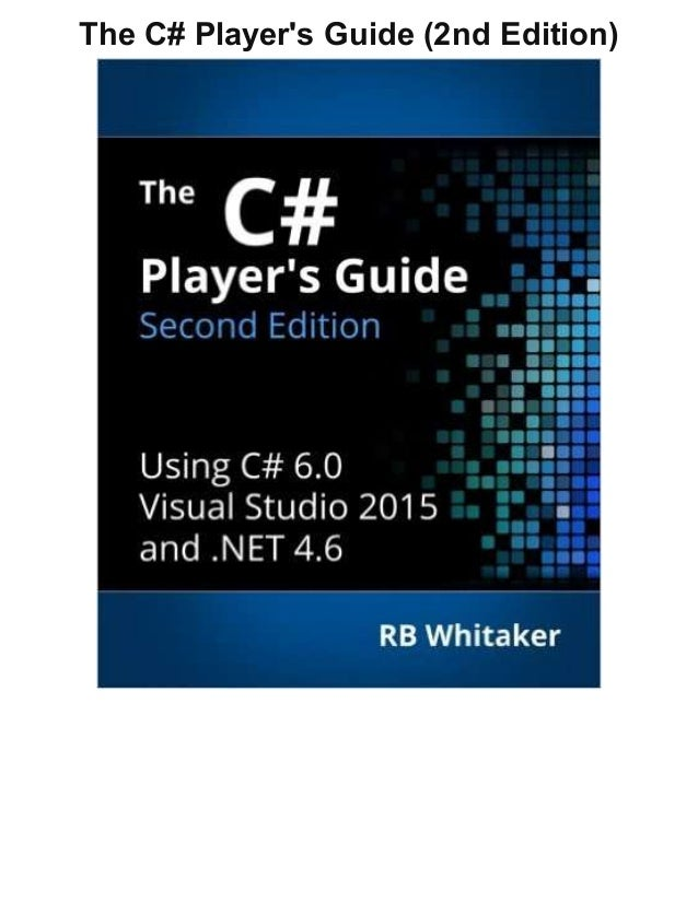 c 6.0 and the net 4.6 framework pdf