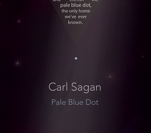 carl sagan pale blue dot speech pdf