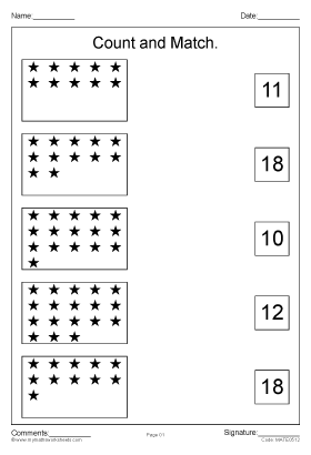 count and match worksheets pdf