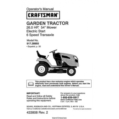 craftsman tractor manual pdf