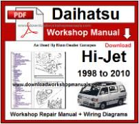 daihatsu hijet workshop manual download
