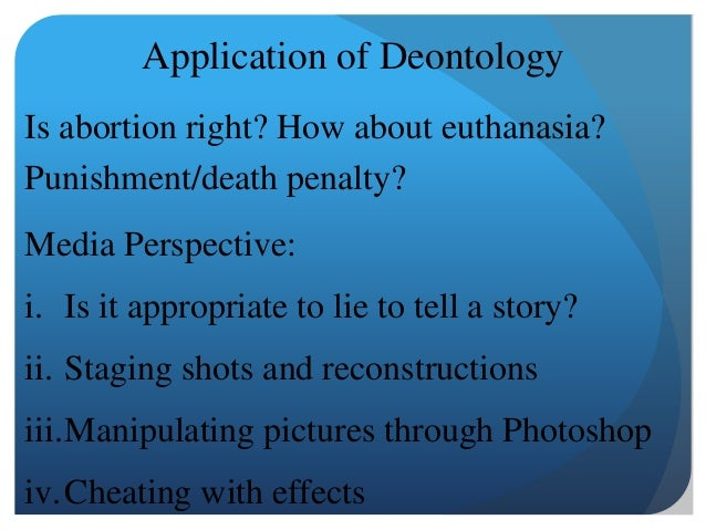 deontology application