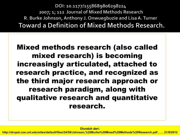 designing and conducting mixed methods research 3rd edition pdf