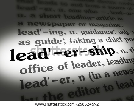 dictionary definition of a leader