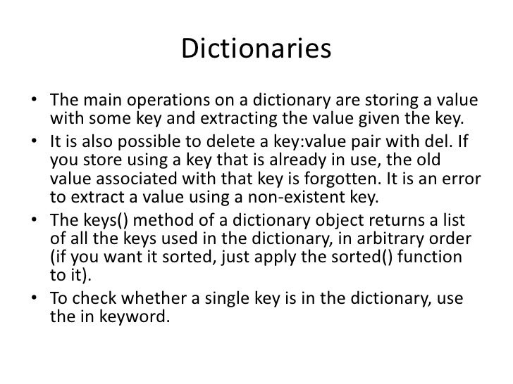 dictionary value is an object python